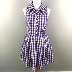 ModCloth Ixia Shirt Dress L Checkered Gingham NWT